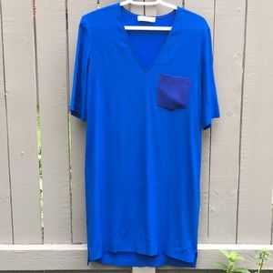 Sandro Electric Blue Shift Dress Size 1/Small